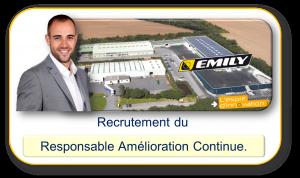 Recrutement du Responsable Amélioration Continue de EMILY SA