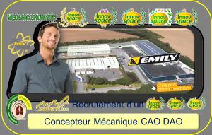 Recrutement d'un Concepteur Mécanique CAO DAO pour EMILY SA